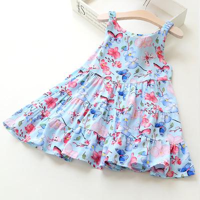 新款夏装女童吊带裙夏季儿童宝宝碎花公主裙背心蛋糕裙子