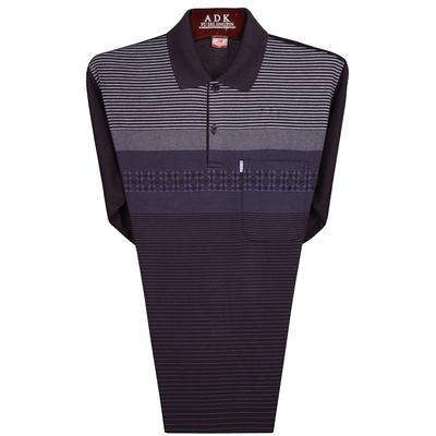 Người đàn ông trung niên của dài tay t-shirt người cao niên mùa xuân 50-60-70-80 tuổi áo sơ mi mùa hè kích thước lớn dài tay T-Shirt áo tay lỡ nam Áo phông dài