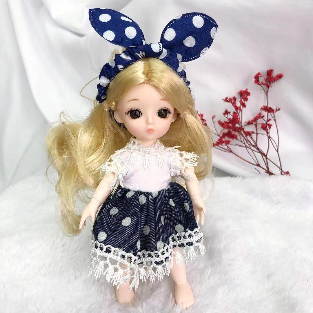 可爱迷你小号换装芭比17厘米11娃娃女孩子生日公主洋娃娃儿童玩具