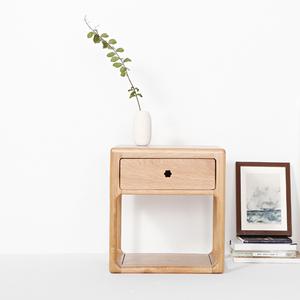 原创简约组合全实木白橡木床头柜茶几