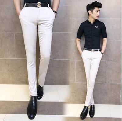 Mùa hè quần nam thanh niên quần âu Hàn Quốc phiên bản của đôi chân mỏng quần của nam giới quần xu hướng stretch thin phần