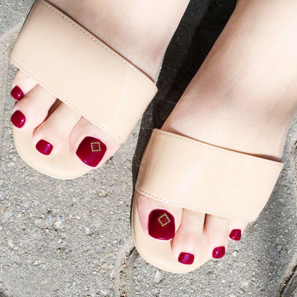 脚趾甲贴可穿戴脚甲片ins网红抖音同款脚甲片可拆卸成品脚趾甲片