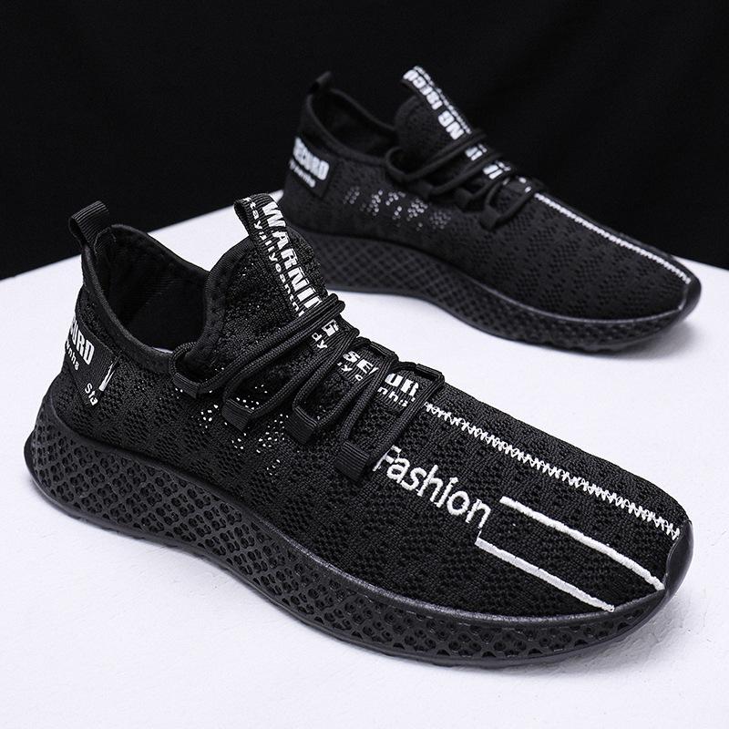 夏2020新款飞织鞋男网面透气运动鞋休闲跑步男鞋韩版学生鞋潮