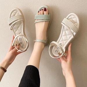 2021新款仙女风百搭舒适软底两穿凉拖鞋