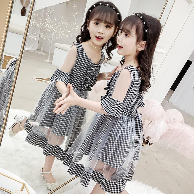 女童夏装连衣裙休闲装中大儿童公主裙女童装