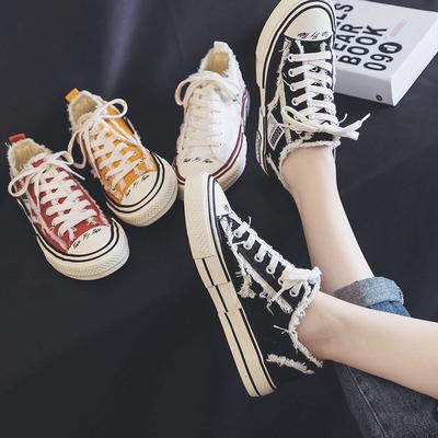 帆布鞋子女2019潮鞋女生流行乞丐夏网红学生百搭韩版超火透气布鞋