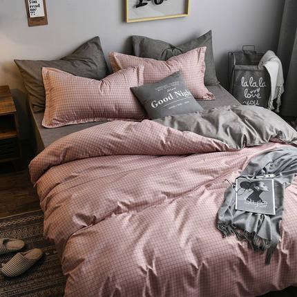 网红ins风三件套床单被套男女单人床学生宿舍仿棉床上用品四件套