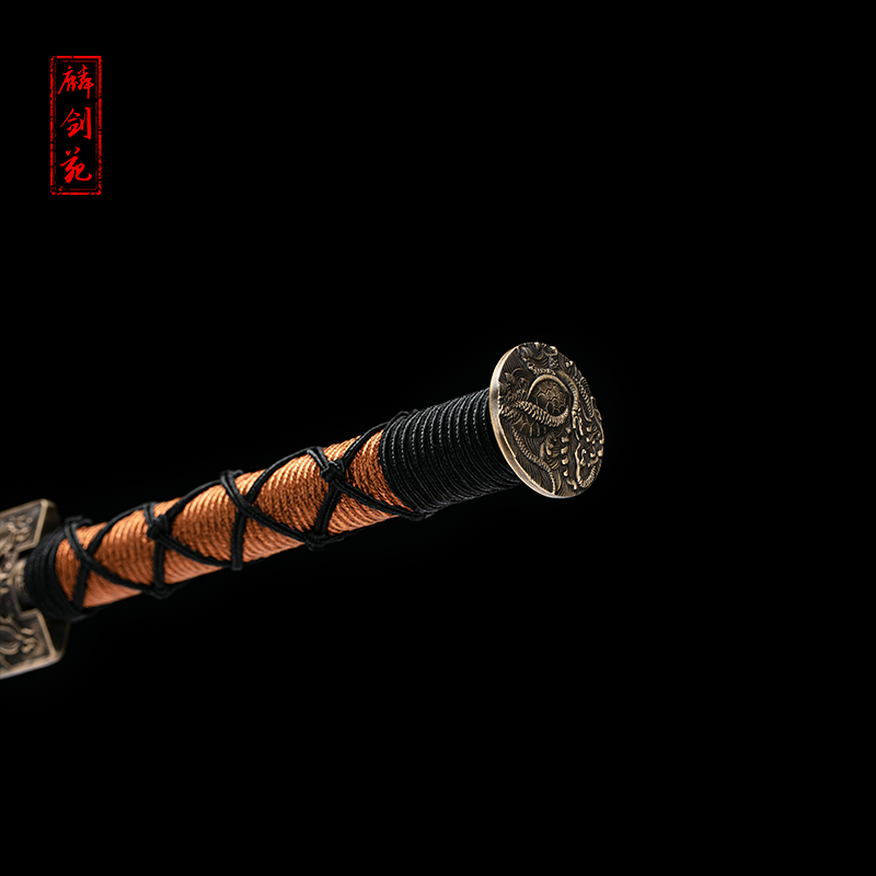 eight sides guile han jian long sword pattern steel pure manual tough one longquan town curtilage sword is not edged usually