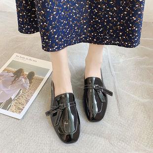 2020秋季英伦风小皮鞋女新款学生韩版百搭复古平底黑色时尚单鞋