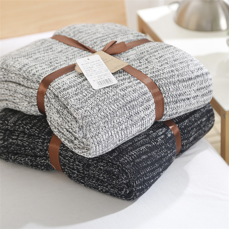 Văn phòng đơn cotton siesta chăn dệt kim ghế phòng chờ chăn chăn chăn siêu mềm điều hòa không khí chăn giải trí chăn - Ném / Chăn