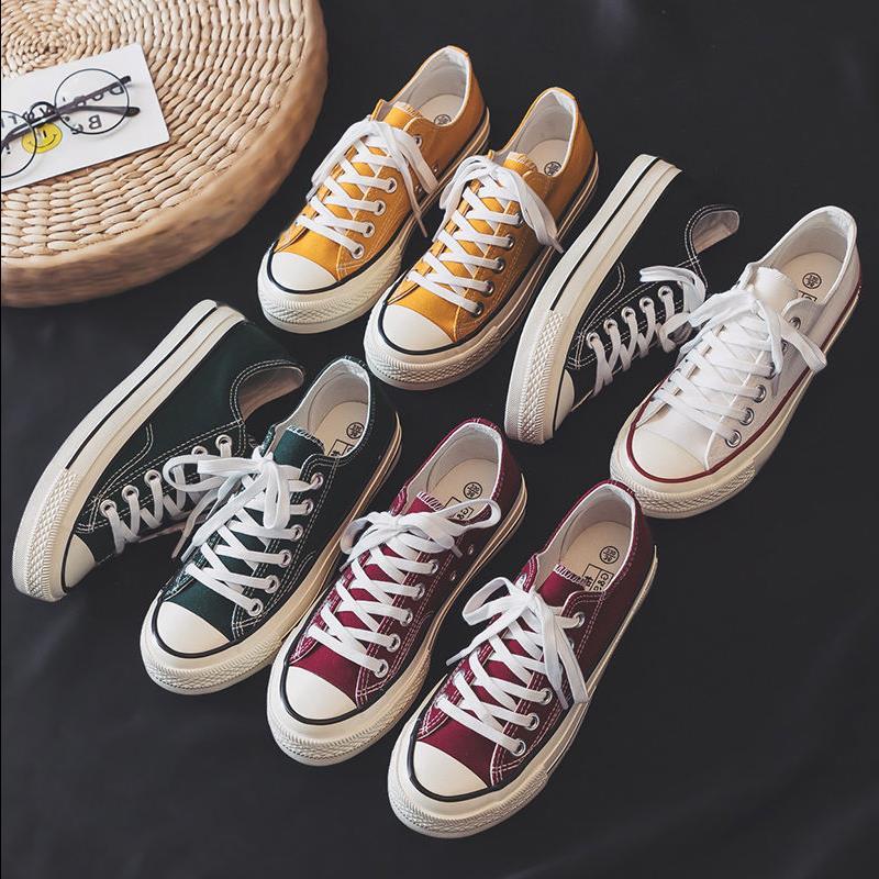 帆布鞋女ins韩版百搭学生平底布鞋39.90元包邮