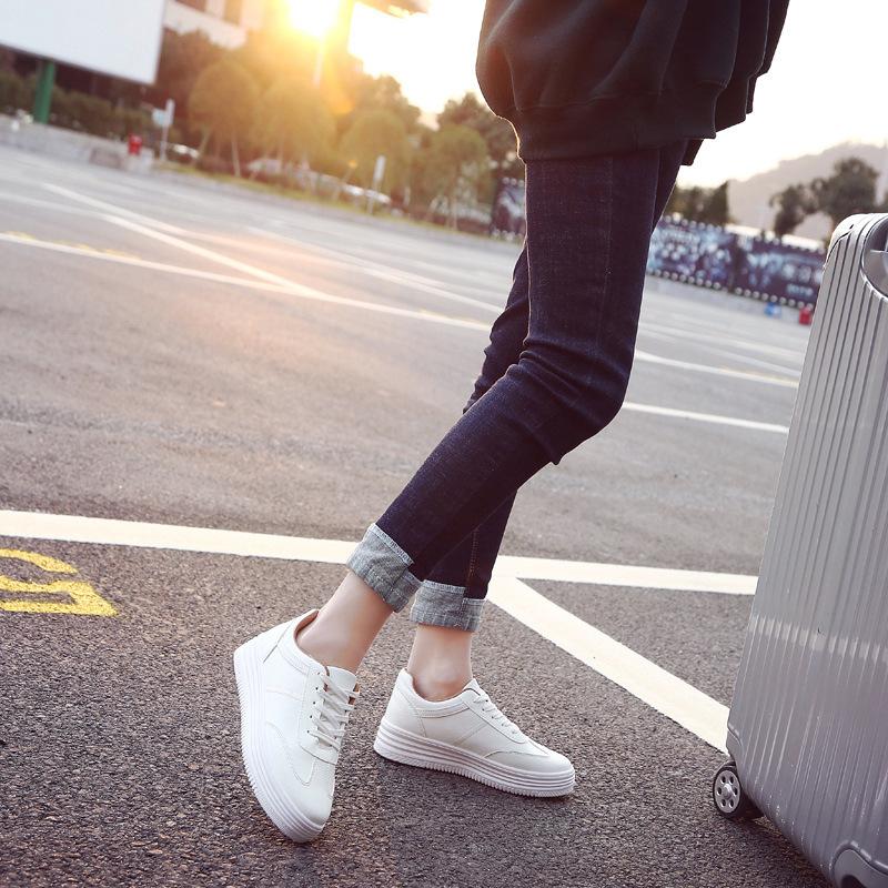 2020春季新款百搭小白鞋女韩版学生跑步板鞋女ins增高休闲鞋透气