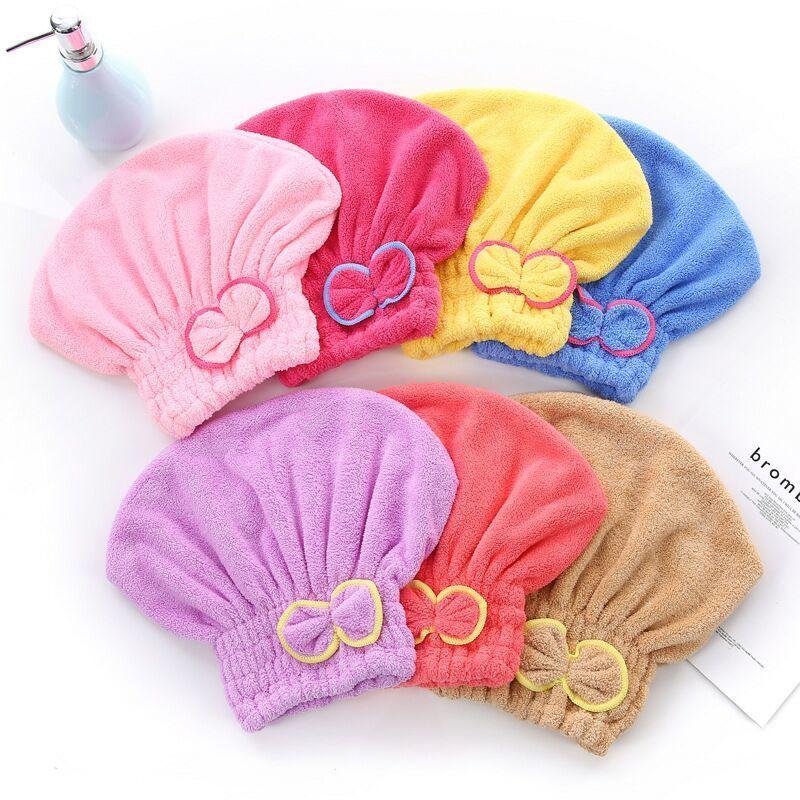 【快速吸水干发神器】干发帽吸水速干可爱成人加厚包头巾洗头浴帽