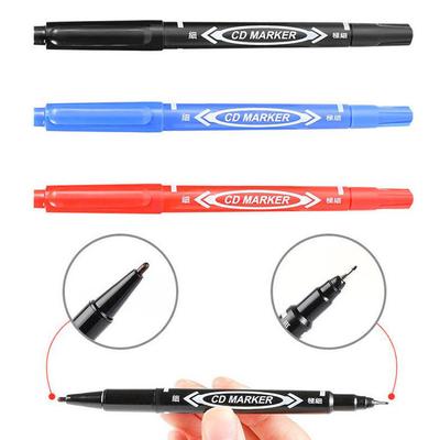 小双头油性记号笔黑蓝红美术勾线笔不掉色物流马克笔美术水性绘画