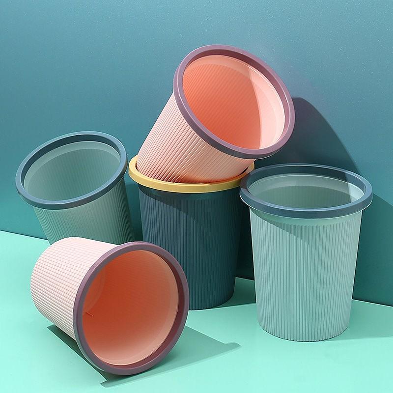 垃圾桶家用客厅带压圈大小号纸篓卫生间厨房卧室创意塑料垃圾箱