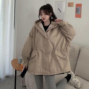 双面穿短款棉衣女2020冬外套