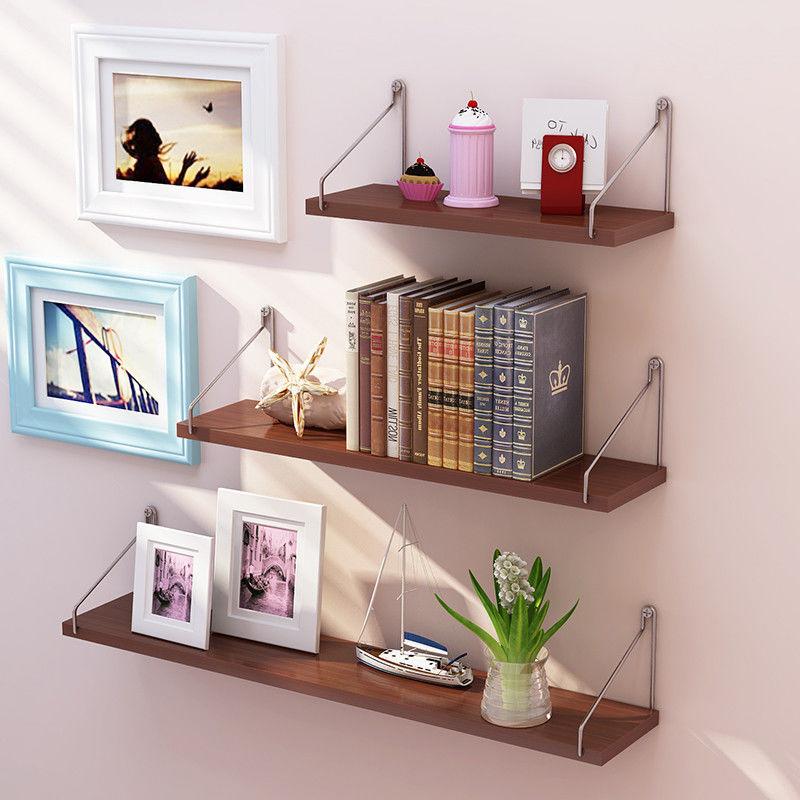 免打孔墙上置物架简约现代搁板客厅壁挂创意墙壁装饰隔板卧室书架