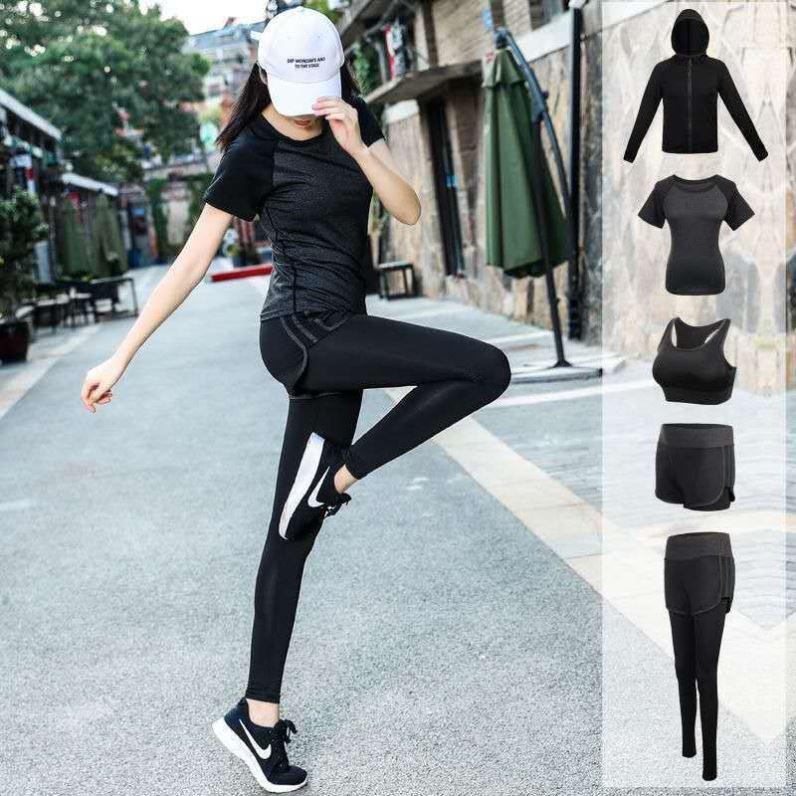 瑜伽服套装女健身服修身显瘦跑步服运动套装速干衣新款运动服户外