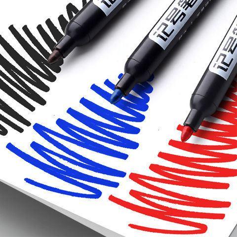 100支黑色记号笔油性不可擦大头笔物流快递笔专用加长防水马克笔