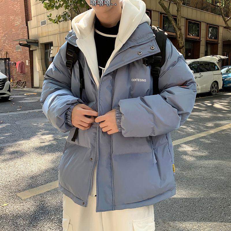 男女冬季棉服外套假两件棉衣棉袄面包服