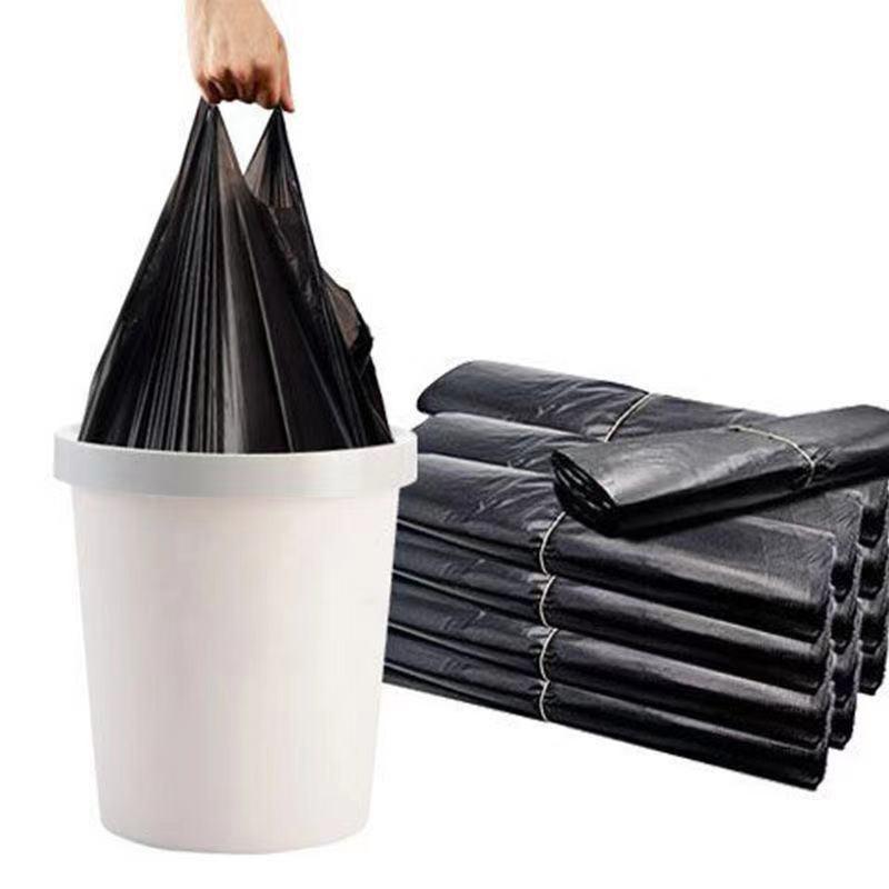 垃圾袋家用加厚手提式背心黑色厨房中大号塑