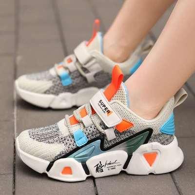 男童鞋子2021春秋新款透气网面运动鞋儿童男童中大童网鞋潮跑步鞋