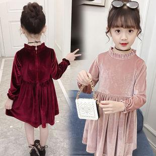女童春装长袖连衣裙韩版新款女孩韩国