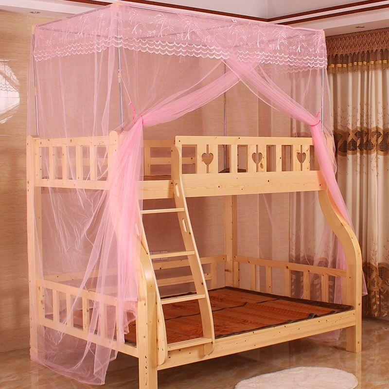 子母床蚊帐上下铺一体式带加厚支架蚊帐