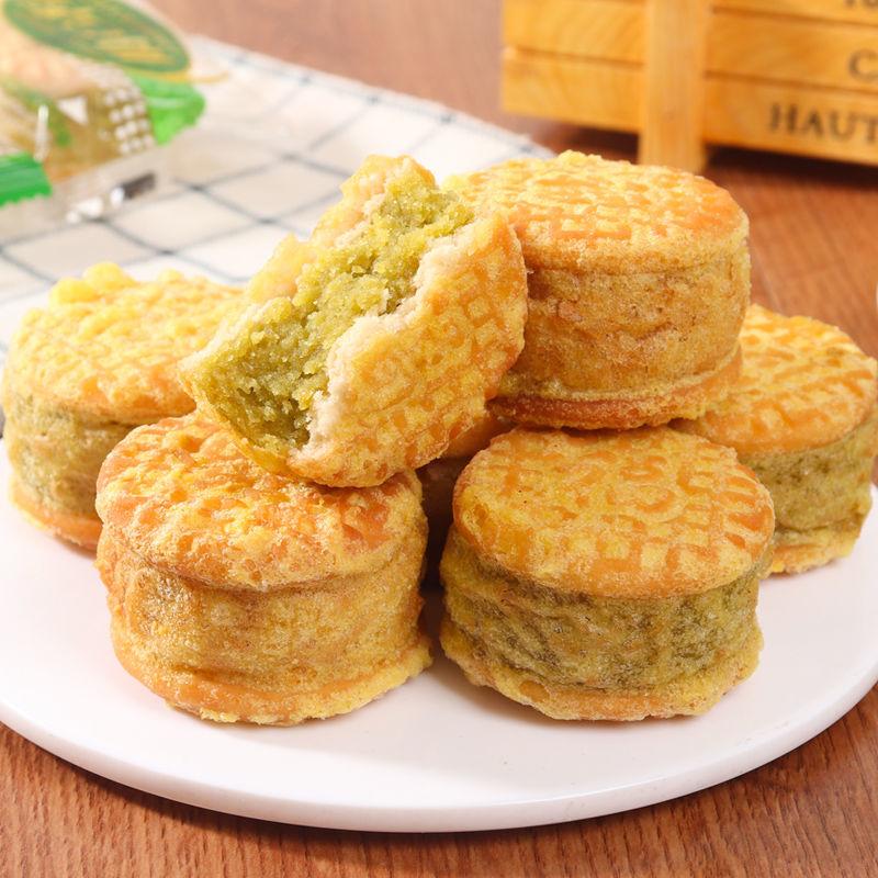 绿豆饼绿豆糕板栗饼蛋糕传统糕点心整箱早餐