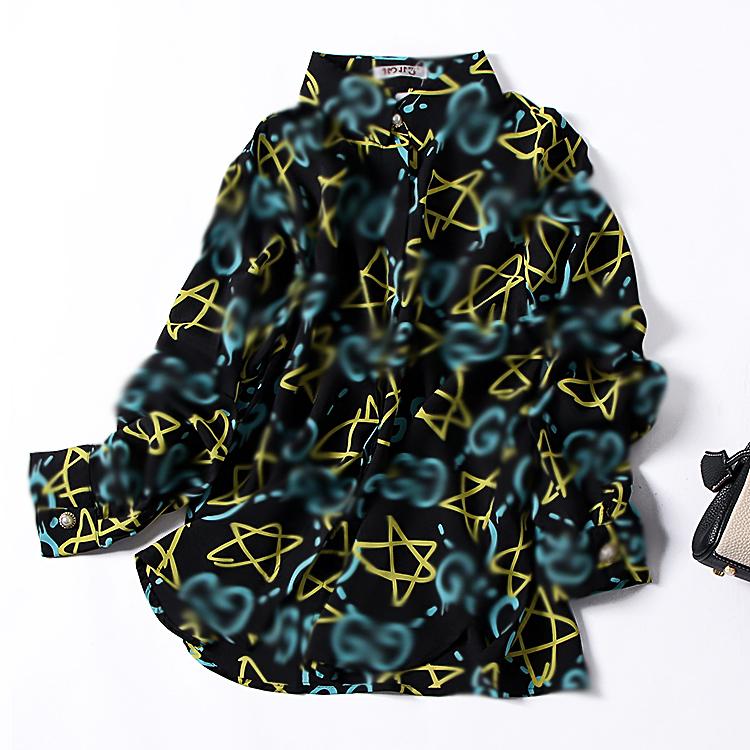[Cabbage] H * 2 đơn ngực ve áo dài tay thẳng áo sơ mi nữ mùa thu màu sắc là mỏng áo sơ mi hoang dã thủy triều