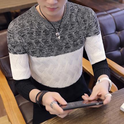 男士长袖针织衫t恤打底衫毛衣上衣服男装