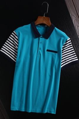 Trong nước duy nhất cắt tiêu chuẩn kinh doanh bình thường ve áo polo áo sơ mi ngắn tay t- shirt khâu tương phản màu nửa tay t- shirt mùa hè ăn mặc áo sơ mi polo Polo