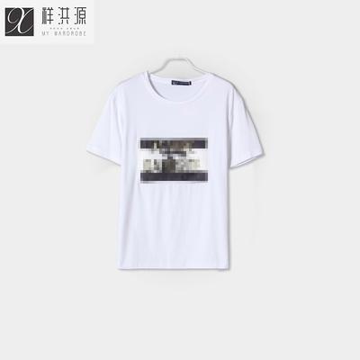 Xiang Hongyuan nam ngắn tay T-Shirt nam 2018 mùa hè xu hướng mới Hàn Quốc phiên bản của nửa tay áo áo triều 182020015 áo tommy Áo phông ngắn