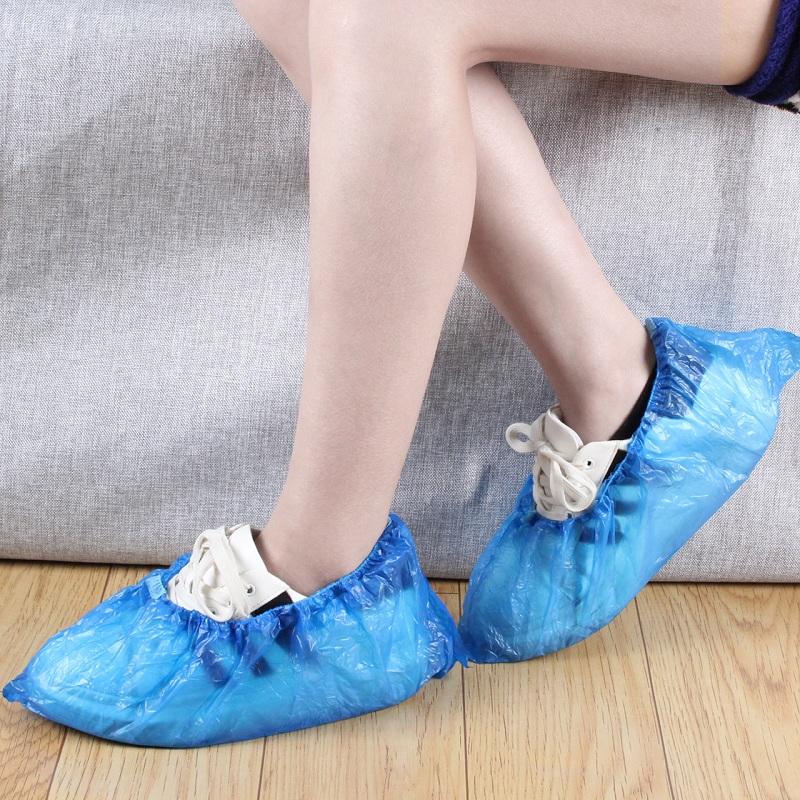 家用脚套防尘防雨水室内塑料100只鞋套一次性加厚鞋套