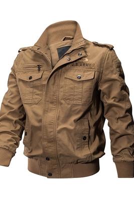 2018 mùa xuân lực lượng đặc biệt của nam giới đa túi quân phục áo khoác bông giản dị dụng cụ áo khoác kích thước lớn lỏng mặc Áo khoác