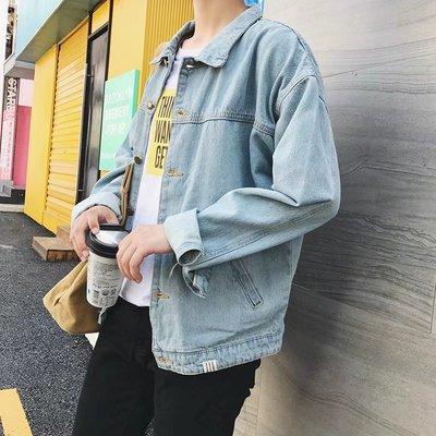 2018 mới mùa xuân áo cổng gió bf quần áo nam Hàn Quốc phiên bản của xu hướng đẹp trai hoang dã denim jacket ulzzang