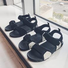 港仔文艺2019新款夏季韩版罗马鞋港风拖鞋沙滩凉鞋313A-F15-P45