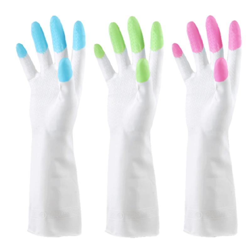 厨房家务洗碗橡胶手套加厚保暖清洁洗衣服乳胶耐用防水手套_淘宝优惠券