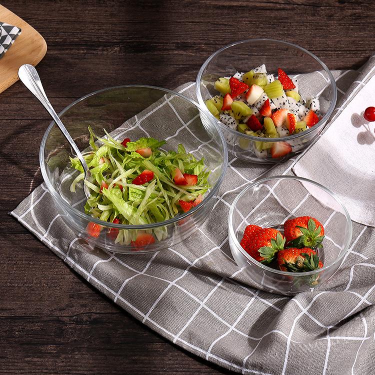 家用碗日式餐具单个泡面碗汤碗玻璃碗饭碗可爱沙拉碗面碗大碗