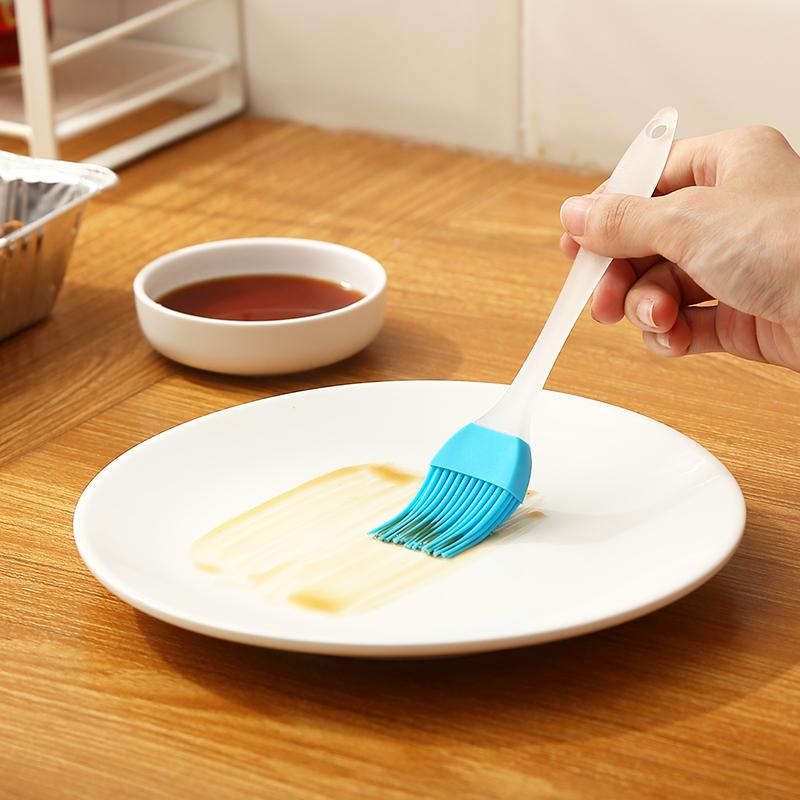 家用耐高温油刷厨房烙饼用的硅胶油刷烘焙烧烤不掉毛电饼铛油刷子