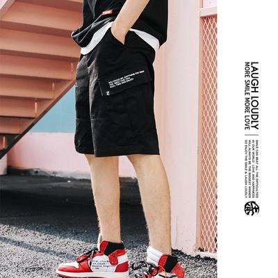 [TIANC BRAND Chen He] mùa hè cổ điển yếm trang trí vành đai quần short nam năm quần quần bó sát Quần làm việc