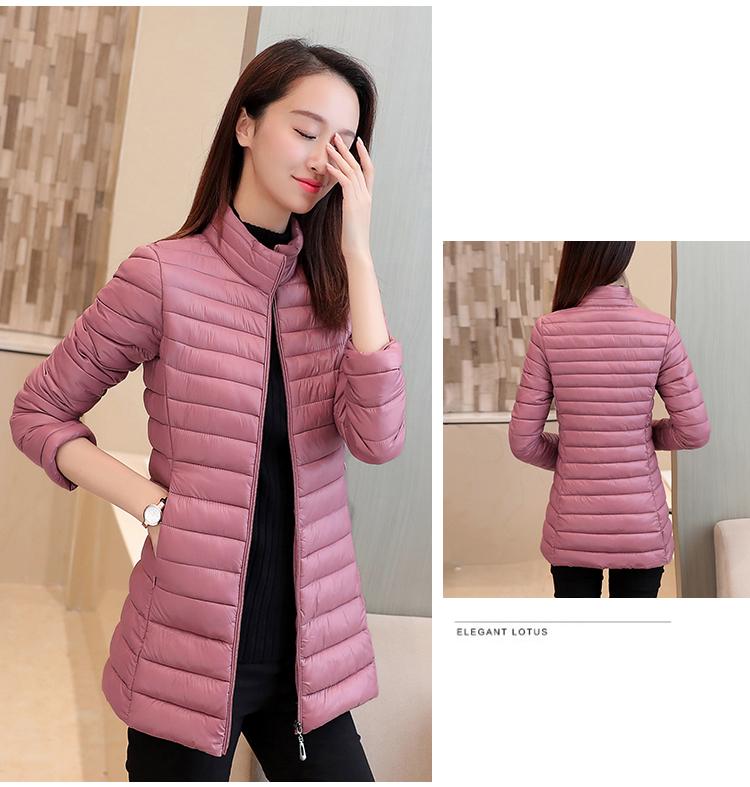 Chống mùa bông quần áo mỏng thắt lưng xuống bông quần áo, cô gái dài mới mỏng giảm béo áo khoác không- Hàn Quốc phiên bản nữ mùa đông