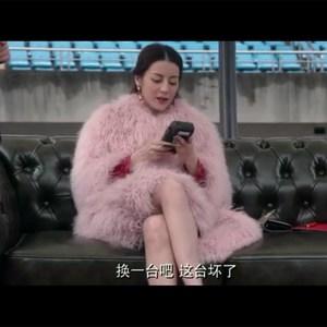 21-carat Lilyba với cùng một chiếc áo khoác Liu Jiayin với cùng một đoạn màu hồng bãi biển len lông quần áo lỏng phần dài