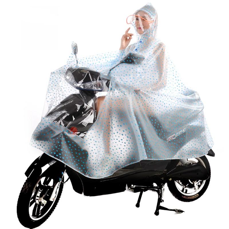 摩托车单人雨衣成人电动自行车骑行抖音雨披透明男女加大加厚雨批