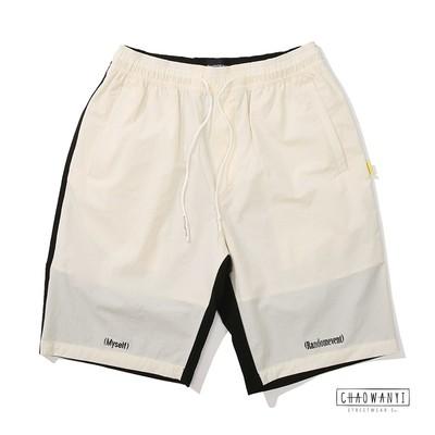 Chơi hợp thời trang RANDOMEVENT RDET sự kiện ngẫu nhiên STRETCH SHORTS khâu quần short - Quần short