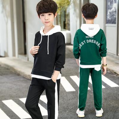 男童秋装新款儿童套装潮衣男孩帅气潮装童装12岁15中大童