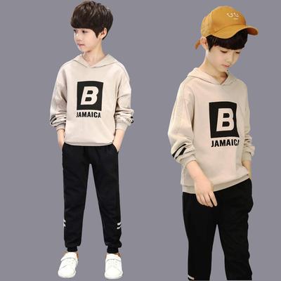 大童装男童春装新款套装儿童春款12岁15男孩帅气运动潮衣