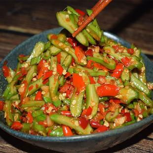 【第二件9.6】湖南特产刀豆剁辣椒泡菜