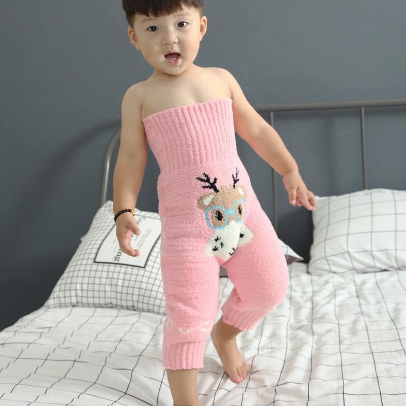 婴儿保暖裤加厚护肚围男童女童秋冬珊瑚绒宝宝睡觉防踢护肚子神器