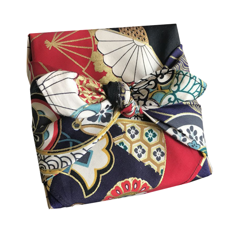 日系和风手帕大方巾风吕敷包裹巾 烫金桌布餐垫包袱皮厚实 新品